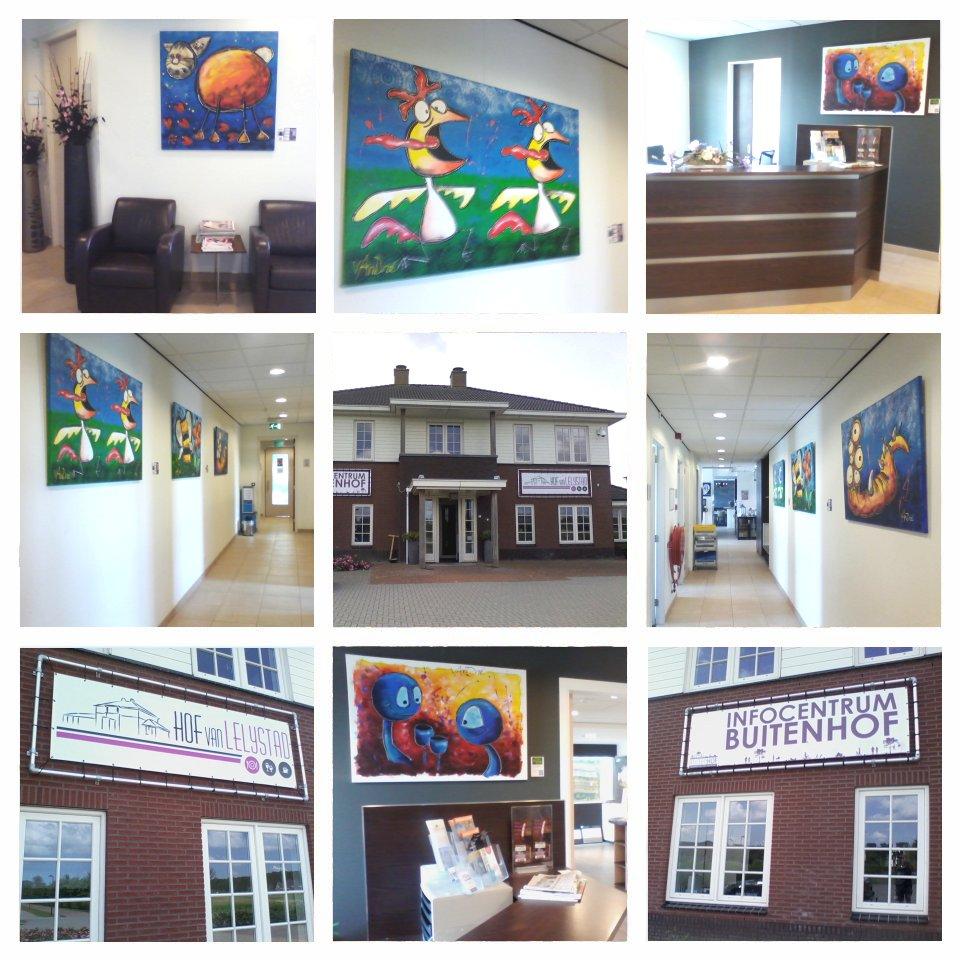 Buitenhof met 'levende' schilderijen !