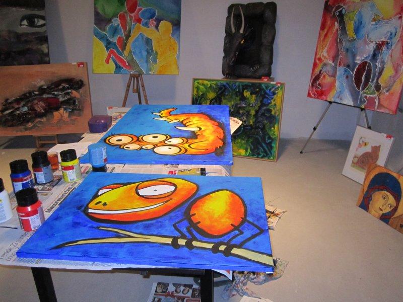 Schilderen in shop