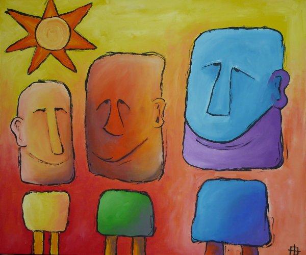 Verlegen trio